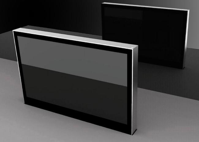 Моторизованные мониторы DB1Twin обеспечивают идеальную видимость для участников заседания по обе стороны стола.