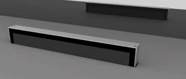 Датчики подъема и опускания мониторов удобно расположены в верхней части монитора.