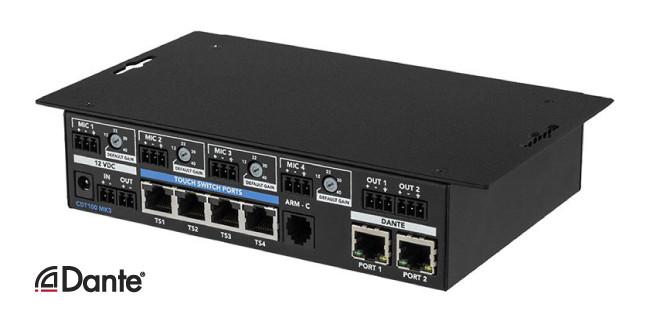 Компания ClockAudio анонсировала новый передатчик Dante CDT-100